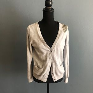 Gap Button Up cardigan with Jeweled Detail